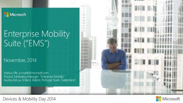 Enterprise Mobility Services - November 2014 - Device Day
