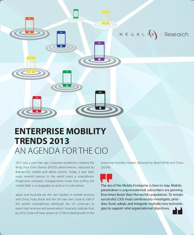 Enterprise mobility trends 2013