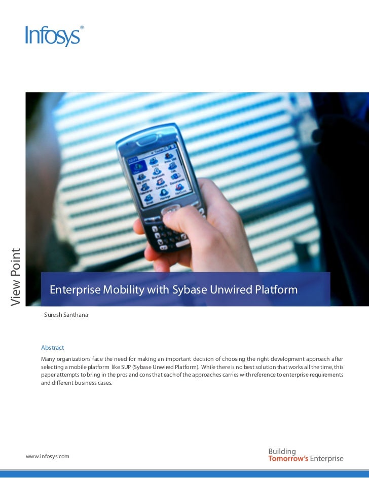Enterprise Mobility with Sybase Unwired Platform
