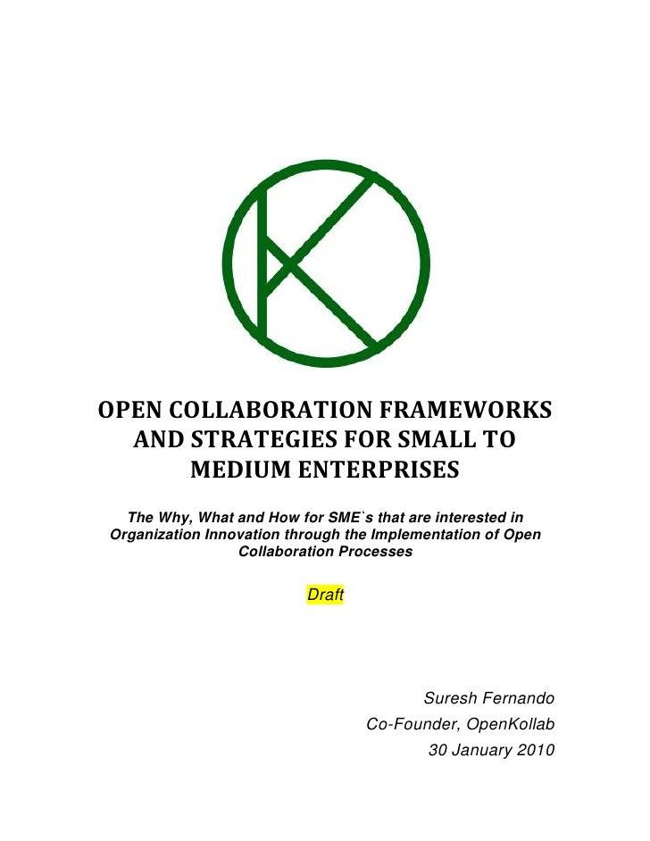 Enterprise Open Collaboration Draft