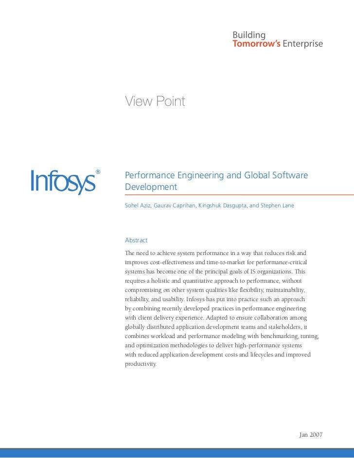 Performance Engineering and Global SoftwareDevelopmentSohel Aziz, Gaurav Caprihan, Kingshuk Dasgupta, and Stephen LaneAbst...