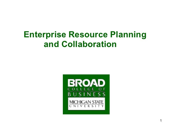 Enterprise Resource Planning and Collaboration