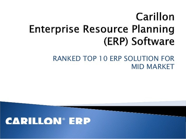 RANKED TOP 10 ERP SOLUTION FOR                    MID MARKET