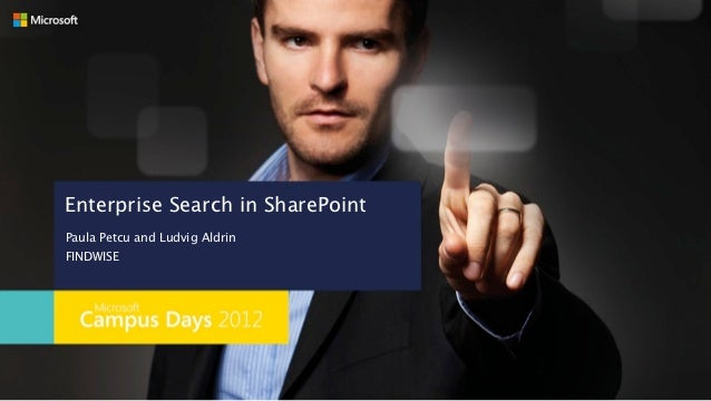 Enterprise Search in SharePointPaula Petcu and Ludvig AldrinFINDWISE