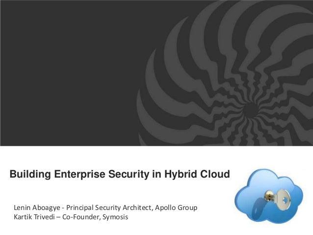 Enterprise Security in Hybrid Cloud ISACA-SV 2012