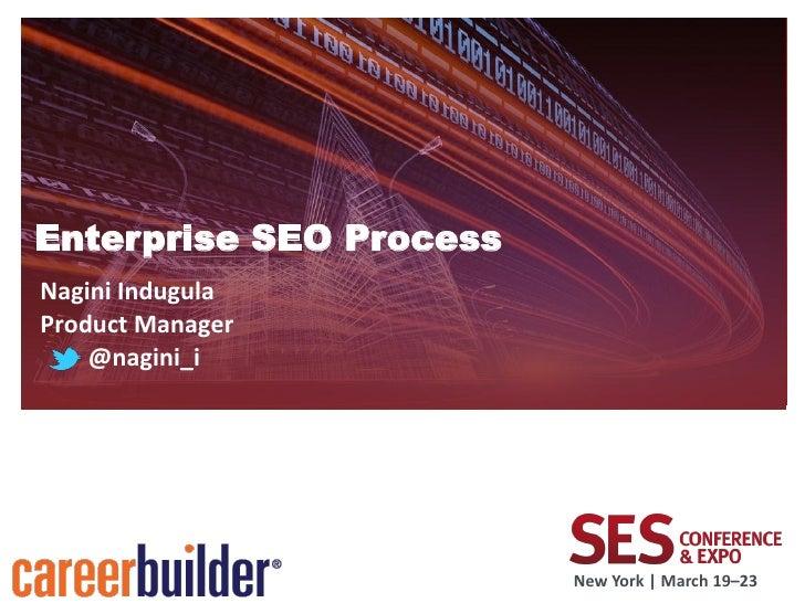 Enterprise SEO Process SES