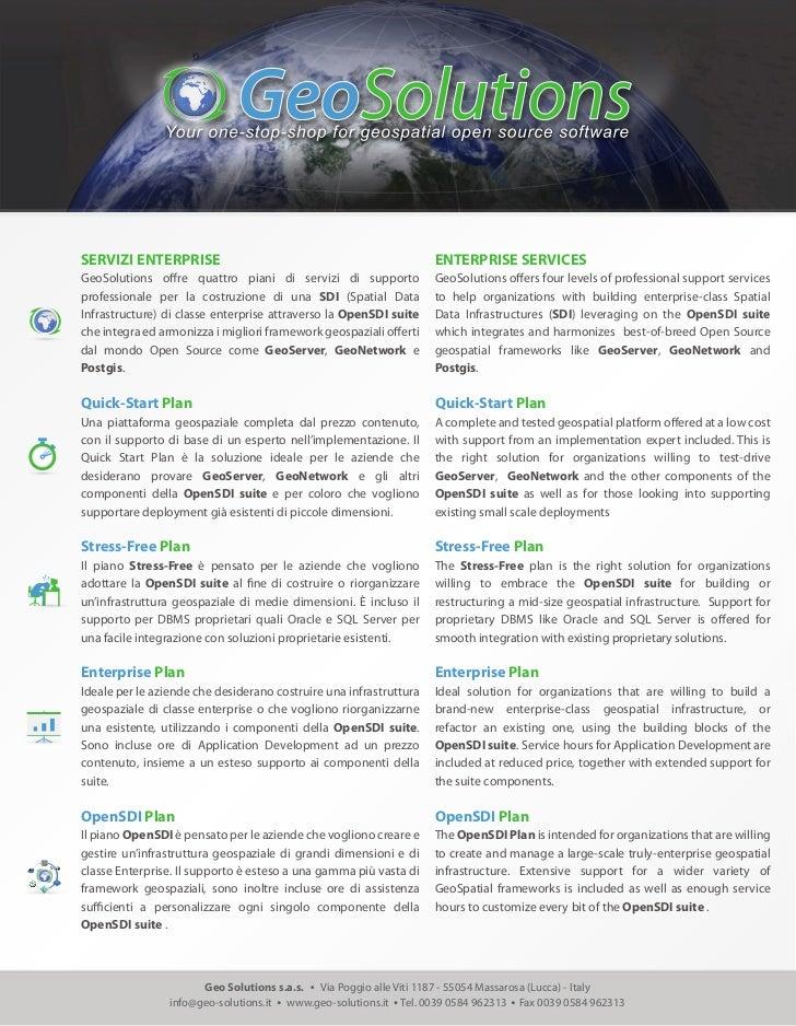 GeoSolutions Enterprise Services