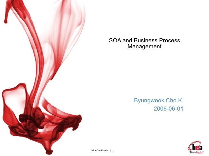 SOA and Business Process Management Byungwook Cho K. 2006-06-01