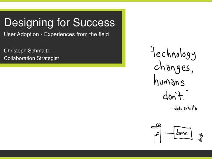 Enterprise social adoption   designing for success