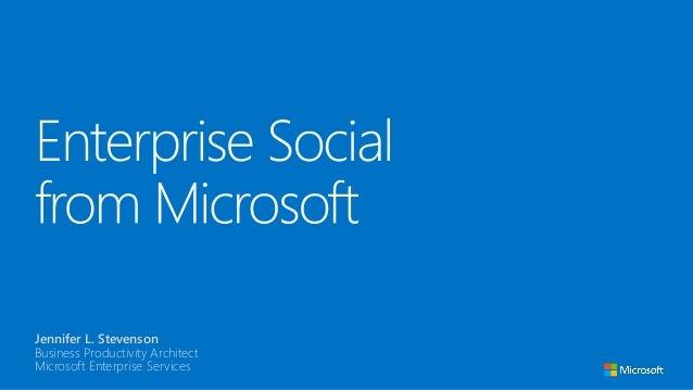 Enterprise Social from Microsoft
