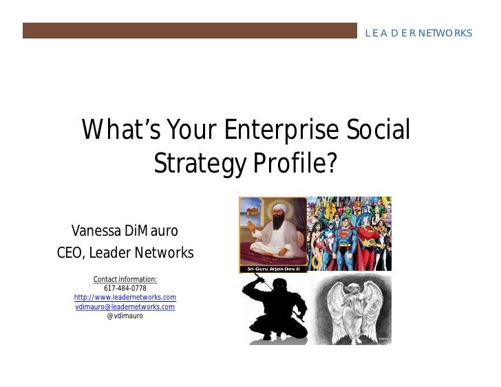 What's Your Enterprise Social Strategy Profile?