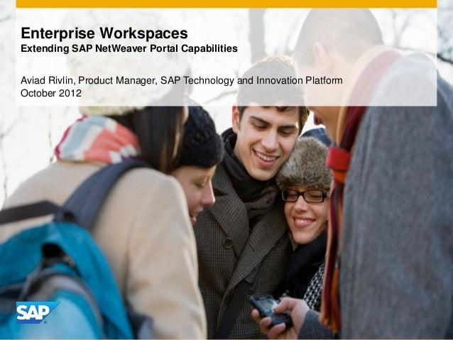 Enterprise workspaces - Extending SAP NetWeaver Portal capabilities