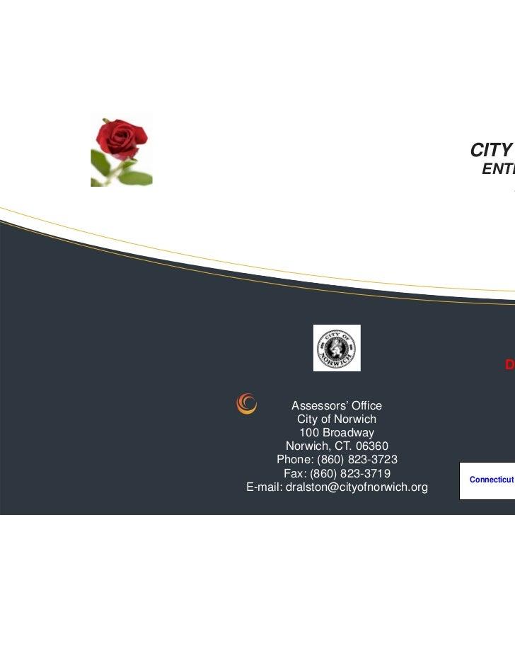 Enterprise Zone Info for Norwich, CT