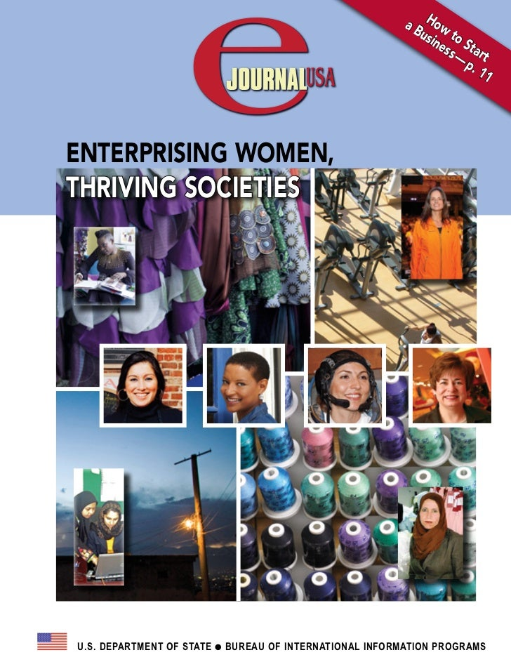 Enterprising Women, Thriving Societies (eJournalUSA)