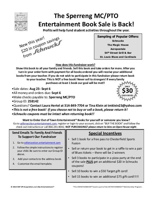 Entertainment book info