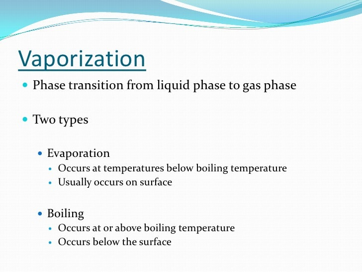 how to find enthalpy of vaporization