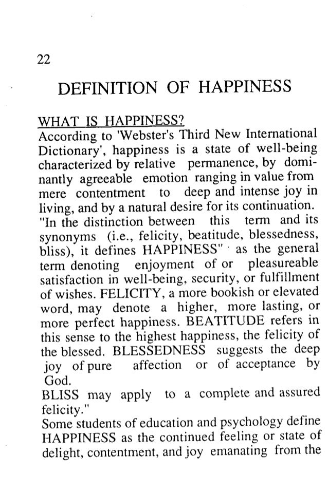 Define Happiness Essay