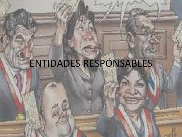 ENTIDADES RESPONSABLES