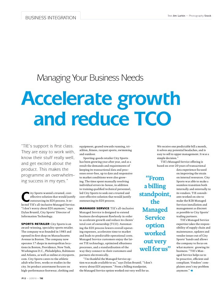 TIE Magazine #2: Managing Your Business Needs