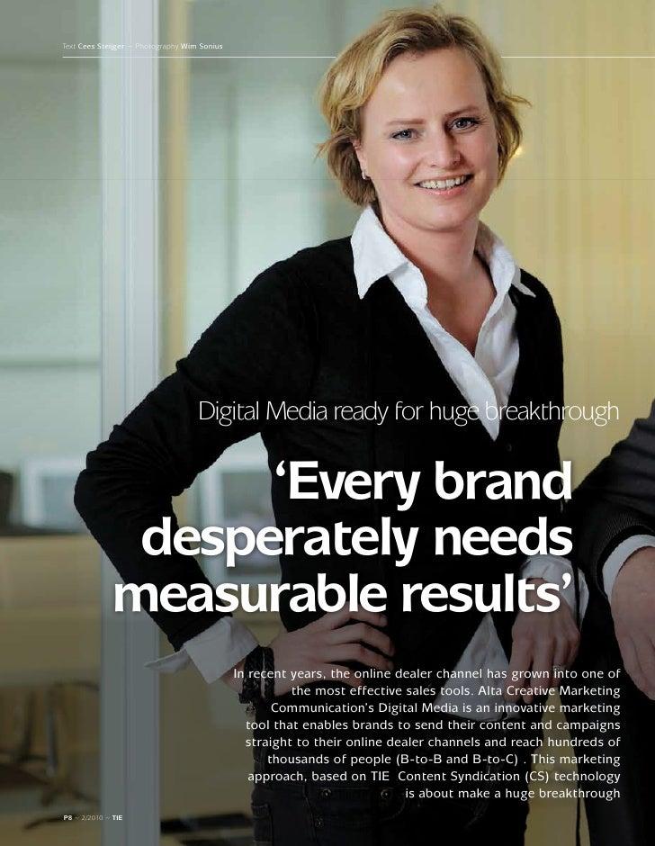 TIE Magazine #2: Digital Media ready for huge breakthrough