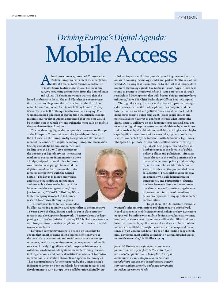 TIE Magazine #2: Mobile Access