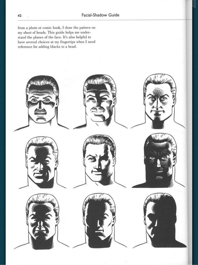 how to draw shadows on faces