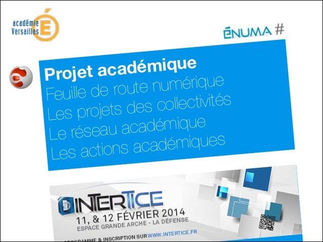 adémique Projet ac te numérique euille de rou F collectivités projets des Les adémique e réseau ac L démiques actions aca...