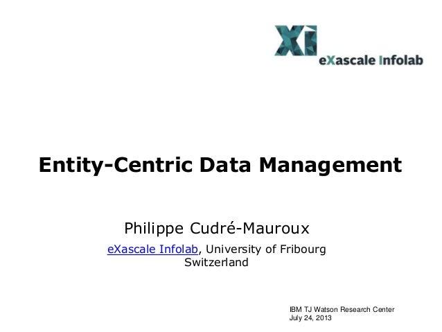 Entity centric data_management_2013