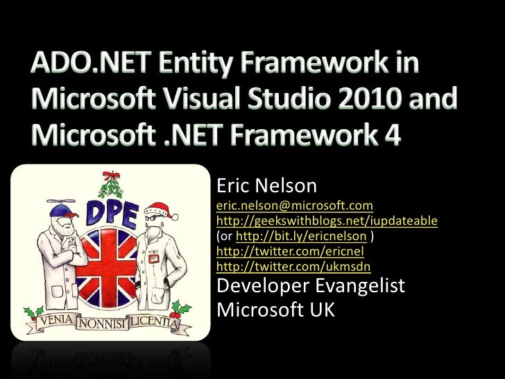 Entity Framework 4 In Microsoft Visual Studio 2010 - ericnel