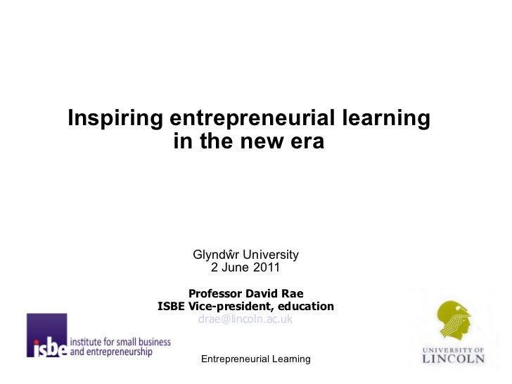 Entrepreneurial Learning - David Rae