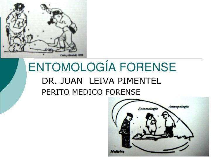 ENTOMOLOGÍA FORENSE  DR. JUAN LEIVA PIMENTEL  PERITO MEDICO FORENSE