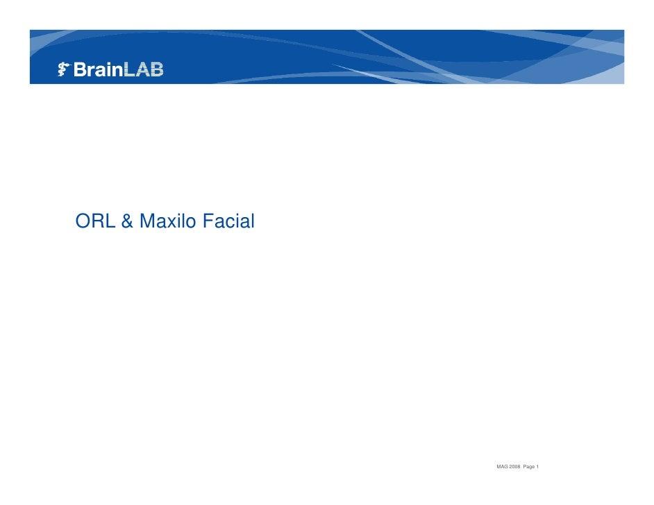 Presentation ORL / CMF 2008