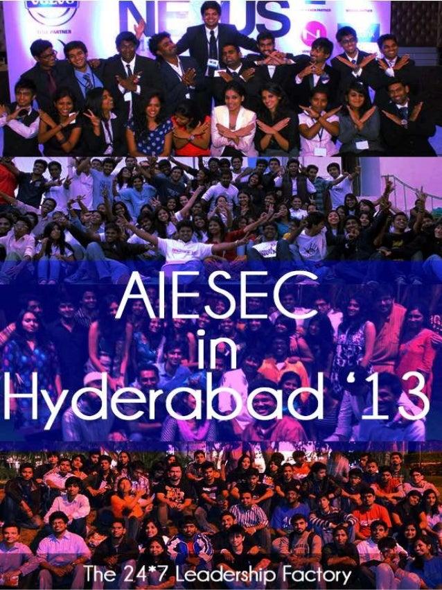 ENTREPRENEURSHIP CHALLENGE AWARD APPLICATION  AIESEC IN HYDERABAD GCDP ICX