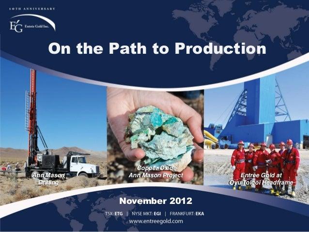 Entree Gold November Corporate Presentation
