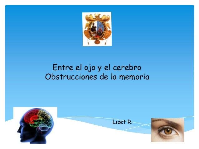 Entre el ojo y el cerebro Obstrucciones de la memoria  Lizet R.