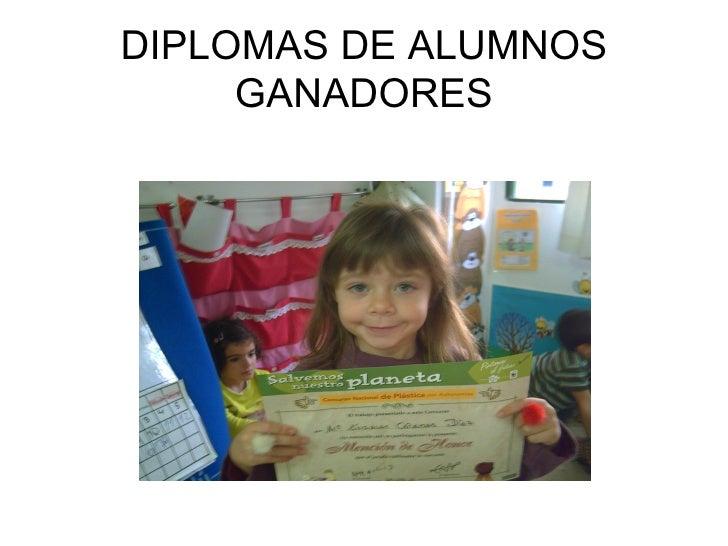 DIPLOMAS DE ALUMNOS GANADORES