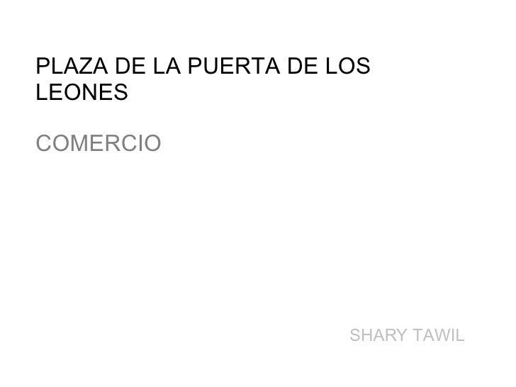 PLAZA DE LA PUERTA DE LOS  LEONES COMERCIO SHARY TAWIL