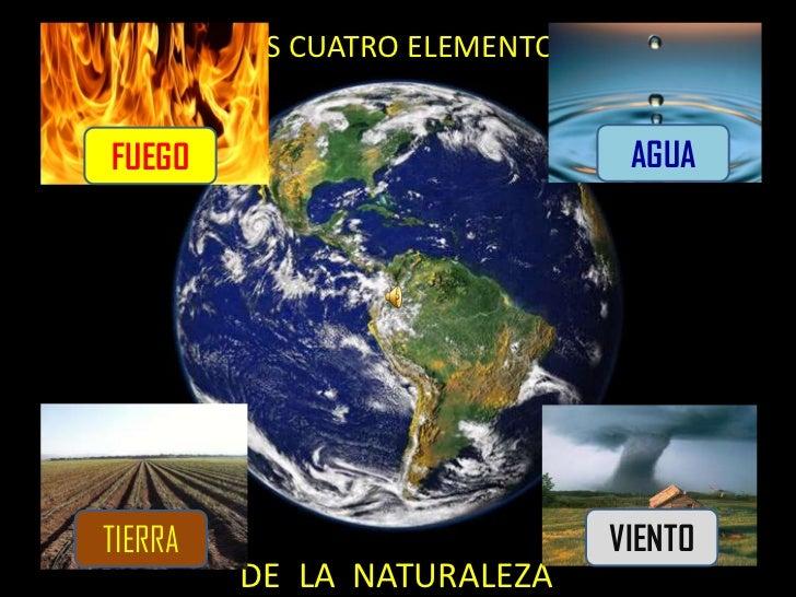 LOS CUATRO ELEMENTOSFUEGO                            AGUATIERRA                          VIENTO         DE LA NATURALEZA