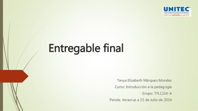 Entregable final Introduccion a la Pedagogia