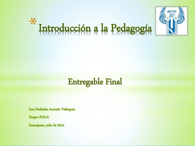 Entregable final pedagogía