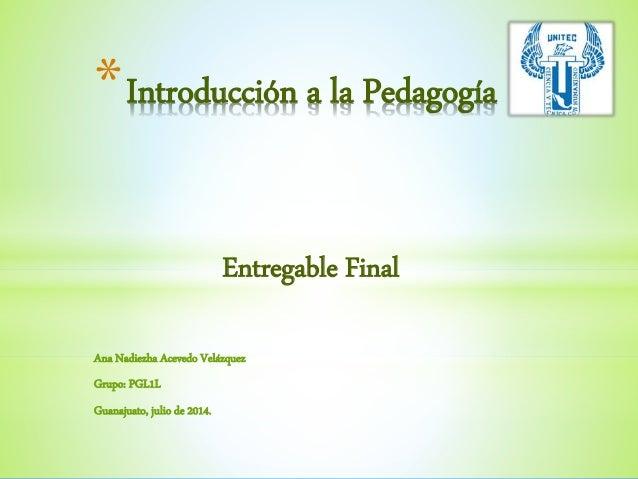 Entregable final pedagogía