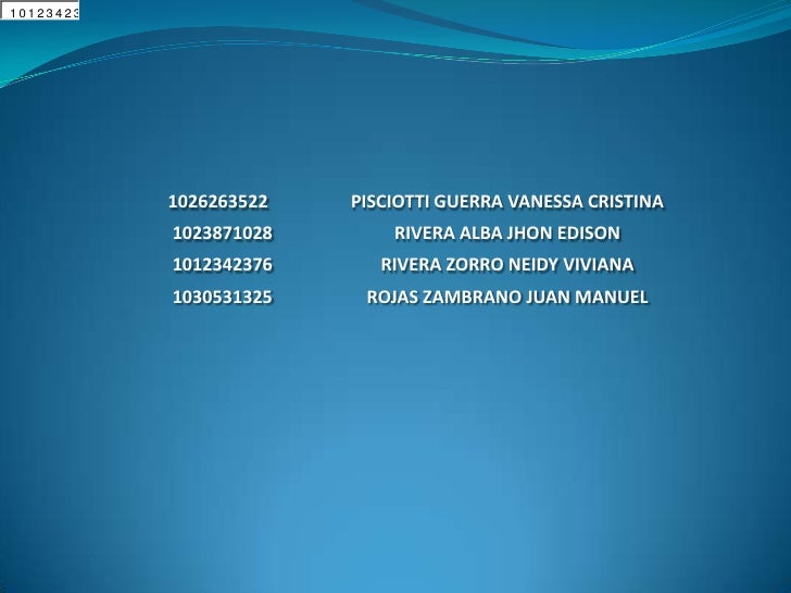 10262635   138710    23423                1026263522   PISCIOTTI GUERRA VANESSA CRISTINA            1023871028       RIVER...