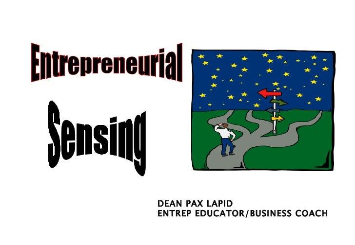 Entrep sensing-Dean Pax Lapid