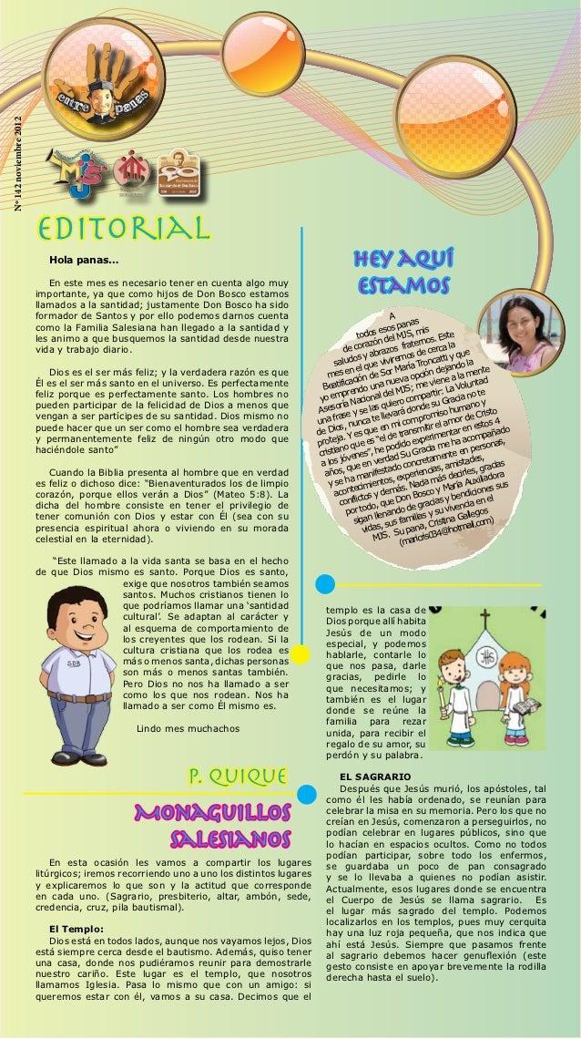 Nº 142 noviembre 2012                        Editorial                           Hola panas…                              ...