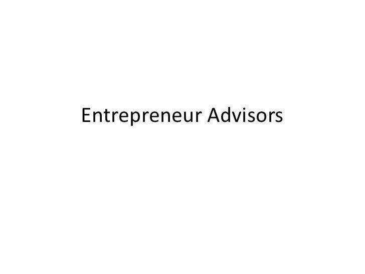 Entrepreneur Advisors