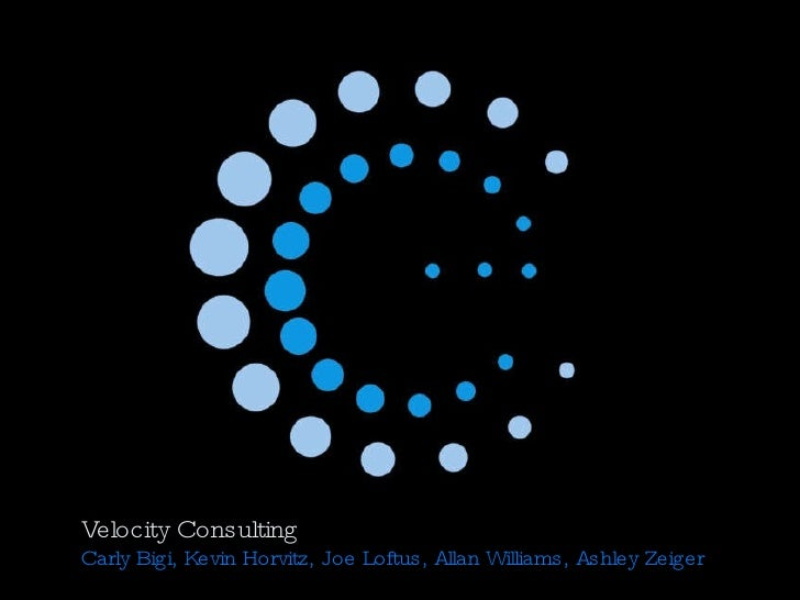 Velocity Consulting Carly Bigi, Kevin Horvitz, Joe Loftus, Allan Williams, Ashley Zeiger