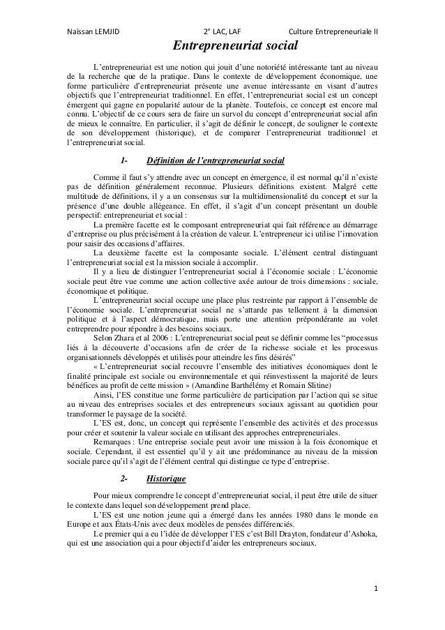 Naïssan LEMJID                            2e LAC, LAF                Culture Entrepreneuriale II                          ...