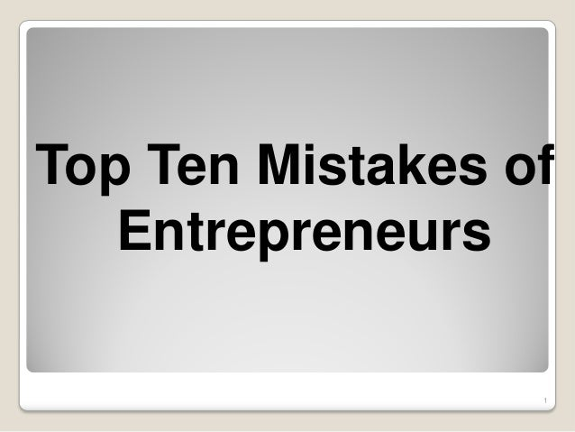 Entrepreneurs Common Top 11 Mistakes By EBriks Infotech