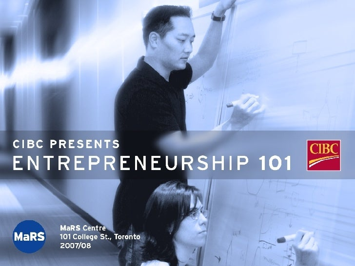 Entrepreneurship 101: Introduction to Technology Commercialization