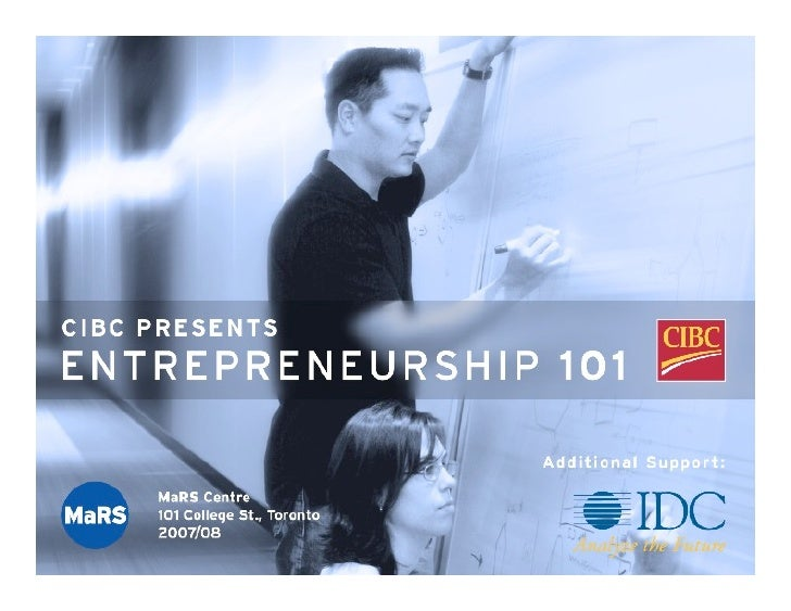 Entrepreneurship 101 - Managing Your Career